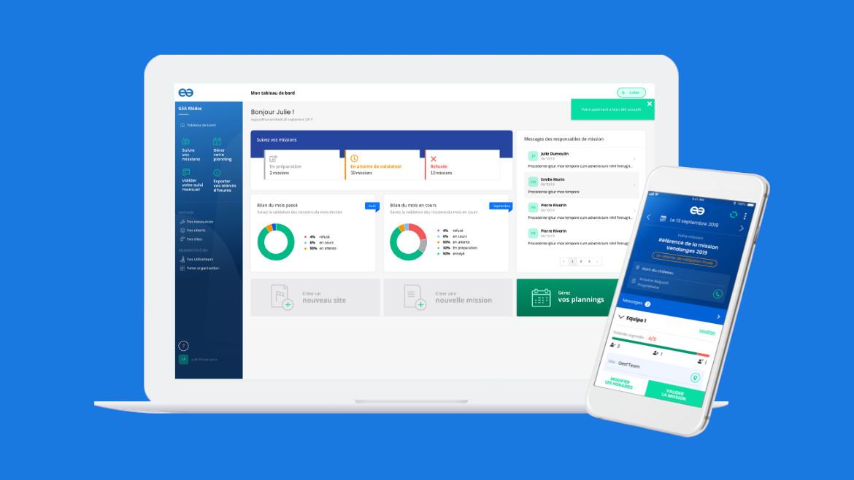 Nouveau logiciel de gestion des temps et des effectifs pour gagner en performances et en mobilité.